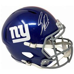 Saquon Barkley Signed New York Giants Full-Size Speed Helmet (Panini COA)