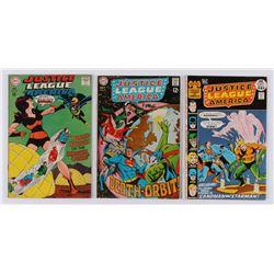 "Lot of (3) 1968-71 ""Justice League of America"" #60-#94 DC Comic Books"
