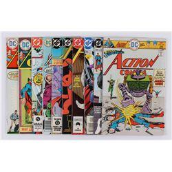 "Lot of (10) 1974-2000 ""Superman's Action Comics"" #431-#765 DC Comic Books"