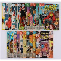 "Lot of (24) 1972-85 ""The Flash"" #218-#350 DC Comic Books"