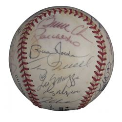 Atlanta Braves 1999 National League Champions ONL Baseball Team-Signed by (32) with Bobby Cox, Greg
