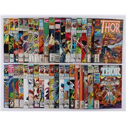 """Lot of (38) 1986-95 """"The Mighty Thor"""" #373-#484 Marvel Comic Books"""
