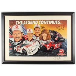 """Dale Earnhardt, Dale Earnhardt Jr., Kelly Earnhardt,  Kerry Earnhardt Signed """"The Legend Continues"""""""
