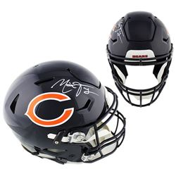 Mitchell Trubisky Signed Chicago Bears Full-Size Authentic On-Field SpeedFlex Helmet (Fanatics Holog