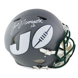 Joe Namath Signed New York Jets Full-Size Authentic On-Field Speed AMP Helmet (Beckett COA)
