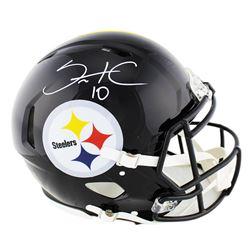 Santonio Holmes Signed Pittsburgh Steelers Full-Size Authentic On-Field Speed Helmet (Radtke COA)