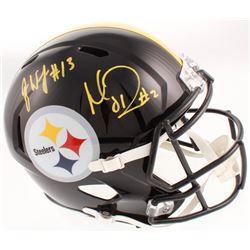 James Washington  Mason Rudolph Signed Pittsburgh Steelers Full-Size Speed Helmet (JSA COA)