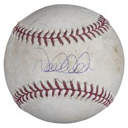 Derek Jeter Signed 2006 Game Used OML Baseball (Steiner COA  MLB Hologram)