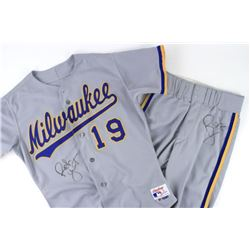 Robin Yount Signed 1991 Milwaukee Brewers Game-Used Jersey  Pants (Mears LOO  JSA ALOA)