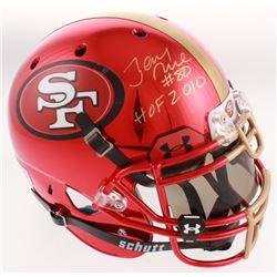 Joe Montana  Jerry Rice Signed San Francisco 49ers Full-Size Authentic On-Field Helmet with Visor In