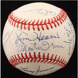 1951 New York Giants ONL Baseball Team-Signed by (13) with Willie Mays, Leo Durocher, Monte Irvin, B