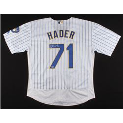 Josh Hader Signed Milwaukee Brewers Jersey (Beckett COA)