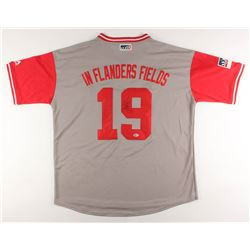 "Joey Votto Signed Cincinnati Reds ""In Flanders Fields"" Jersey (Beckett Hologram)"
