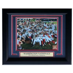 "Washington Nationals ""2019 World Series Champions"" 11x14 Custom Framed Photo Display"