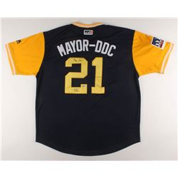 "Travis Shaw Signed Milwaukee Brewers Jersey Inscribed ""Mayor DDC"" (Beckett COA)"