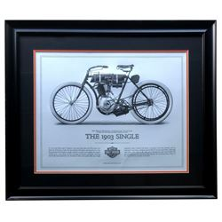 "Harley-Davidson ""The 1903 Single"" 23x27 Custom Framed Print Display"