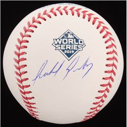 Anibal Sanchez Signed Official 2019 World Series Baseball (Beckett COA)