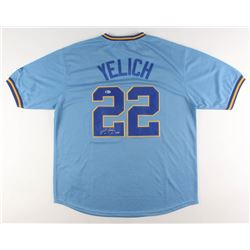 "Christian Yelich Signed Milwaukee Brewers Jersey Inscribed ""18 NL MVP"" (Beckett COA)"