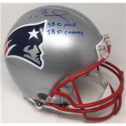 "Tom Brady Signed New England Patriots Full-Size Authentic On-Field LE Helmet Inscribed ""SB 51 MVP"""