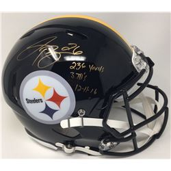 "Le'Veon Bell Signed Pittsburg Steelers LE Full-Size Authentic On-Field Speed Helmet Inscribed ""236 Y"