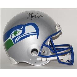 "Steve Largent Signed Seattle Seahawks Throwback LE Full-Size Authentic On-Field Helmet Inscribed ""HO"