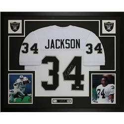 Bo Jackson Signed 35x43 Custom Framed Jersey (Beckett COA)