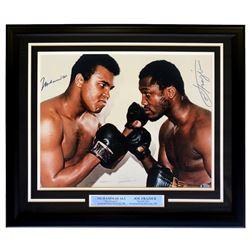 Muhammad Ali  Joe Frazier Signed 22x27 Custom Framed Photo (Beckett LOA)
