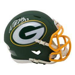 Davante Adams Signed Green Bay Packers AMP Alternate Speed Mini Helmet (JSA COA)