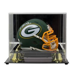 Davante Adams Signed Green Bay Packers AMP Alternate Speed Mini Helmet with High-Quality Display Cas