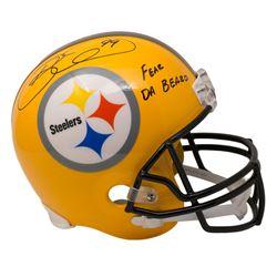 "Brett Keisel Signed Pittsburgh Steelers Full-Size Throwback Helmet Inscribed ""Fear Da Beard"" (Becket"