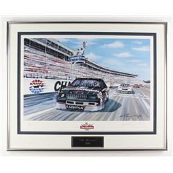 "Dale Earnhardt LE ""The Winston 1990"" 24x29.5 Custom Framed Lithograph Display (PA LOA)"