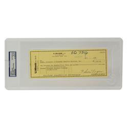 Ben Hogan Signed 1990 Personal Bank Check (PSA Encapsulated)