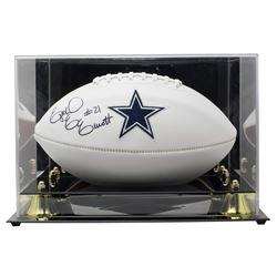 Ezekiel Elliott Signed Dallas Cowboys Logo Football with High-Quality Display Case (Beckett COA)