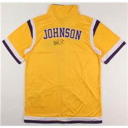 Magic Johnson Signed Los Angeles Lakers Warm-Up Jersey (PSA COA)