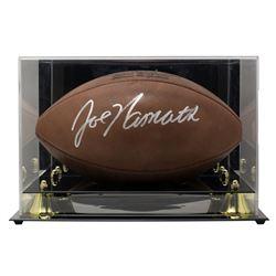 "Joe Namath Signed ""The Duke"" NFL Game Ball with High-Quality Display Case (JSA COA)"