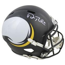 Adam Thielen Signed Minnesota Vikings Full-Size AMP Alternate Speed Helmet (Beckett COA)