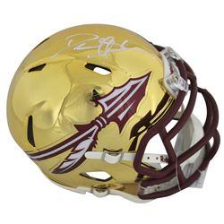 Deion Sanders Signed Florida State Seminoles Chrome Speed Mini Helmet (Beckett COA)