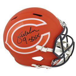 "Jim McMahon Signed Chicago Bears Full-Size AMP Alternate Speed Helmet Inscribed ""SB XX"" (Beckett COA"