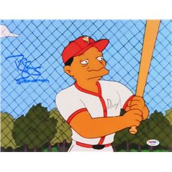 "Darryl Strawberry Signed ""The Simpsons"" 11x14 Photo Inscribed ""Strawman"" (PSA COA)"
