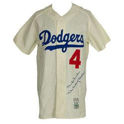 "Duke Snider Signed Los Angeles Dodgers Mitchell  Ness Jersey Inscribed ""The Duke of Flatbush"" (PSA L"