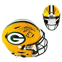 "Rashan Gary Signed Green Bay Packers Full-Size Authentic On-Field SpeedFlex Helmet Inscribed ""Kings"
