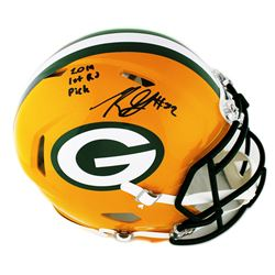 "Rashan Gary Signed Green Bay Packers Full-Size Authentic On-Field Speed Helmet Inscribed ""2019 1st R"