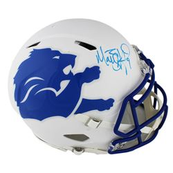 Matthew Stafford Signed Detroit Lions Full-Size Authentic On-Field Speed AMP Helmet (Fanatics Hologr