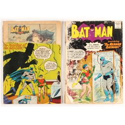 "Lot of (2) 1956-1958 ""Batman"" DC Comic Books"