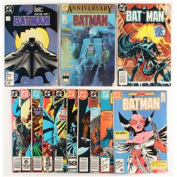 "Lot of (13) 1984-1987 ""Batman"" DC Comic Books"