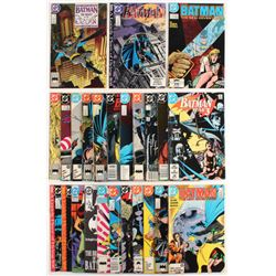 "Lot of (25) 1987-1993 ""Batman"" DC Comic Books"
