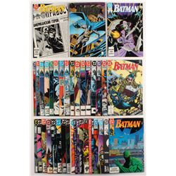"Lot of (36) 1985-1993 ""Batman"" DC Comic Books"