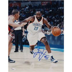 James Harden Signed Oklahoma City Thunder 11x14 Photo (JSA COA)