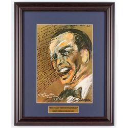 "LeRoy Neiman ""Sinatra at the Fontainebleau"" 15.5x19 Custom Framed Print Display"