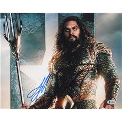 "Jason Momoa Signed ""Aquaman"" 11x14 Photo (Beckett COA)"